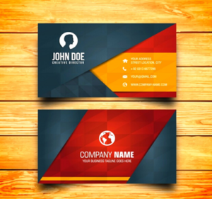 A normal business card